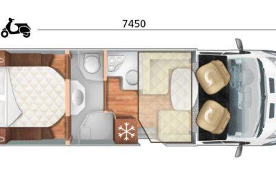 Plan du motorhome Magis 66 XT en location