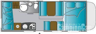 Vue en plongée du motorhome Challenger Genesis M15